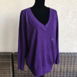 Lane Bryant Purple Lightweight V-Neck Sweater 14